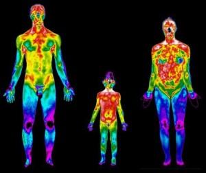 corpo umano visto a infrarossi
